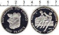 Изображение Монеты Африка Конго 1000 франков 2001 Серебро Proof-