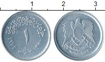Изображение Монеты Африка Египет 1 миллим 1972 Алюминий UNC-