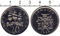 Изображение Монеты Северная Америка Ямайка 20 центов 1969 Медно-никель UNC-