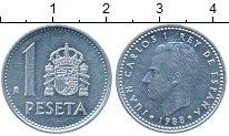 Изображение Дешевые монеты Испания 1 песета 1988 Медно-никель XF-