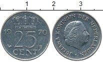 Изображение Дешевые монеты Нидерланды 25 центов 1970