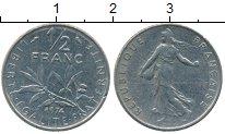 Изображение Дешевые монеты Европа Франция 1/2 франка 1974