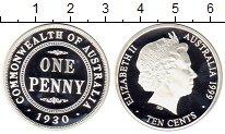 Изображение Монеты Австралия 10 центов 1999 Серебро Proof
