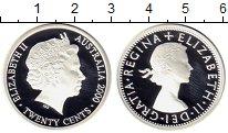 Изображение Монеты Австралия 20 центов 2000 Серебро Proof Монеты в серебре, Ел