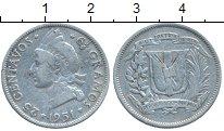Изображение Монеты Северная Америка Доминиканская республика 25 сентаво 1951 Серебро VF