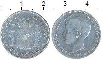 Изображение Монеты Испания 1 песета 1901 Серебро VF