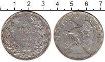 Изображение Монеты Южная Америка Чили 1 песо 1903 Серебро XF-