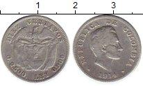 Изображение Монеты Южная Америка Колумбия 10 сентаво 1914 Серебро VF