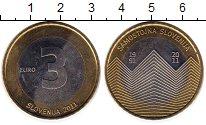 Изображение Монеты Словения 3 евро 2011 Биметалл UNC-