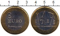 Изображение Монеты Европа Словения 3 евро 2013 Биметалл UNC-