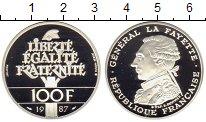 Изображение Монеты Франция 100 франков 1987 Серебро Proof