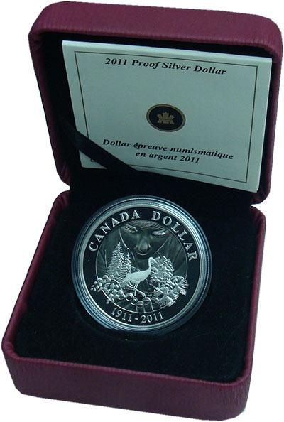 Изображение Подарочные монеты Канада 1 доллар 2011 Серебро Proof