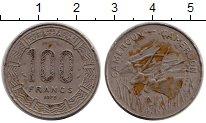 Изображение Монеты Африка Камерун 100 франков 1975 Медно-никель VF
