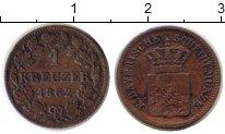 Изображение Монеты Бавария 1 крейцер 1862 Медь XF-