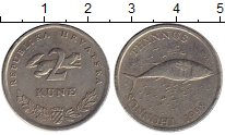 Изображение Монеты Европа Хорватия 2 куны 1998 Медно-никель XF