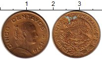 Изображение Монеты Мексика 5 сентаво 1976 Бронза XF