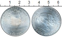 Изображение Монеты Европа Дания 2 кроны 1953 Серебро UNC
