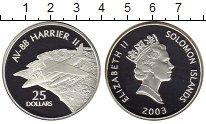 Изображение Монеты Соломоновы острова 25 долларов 2003 Серебро Proof- Самолет, авиация