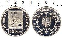 Изображение Монеты Европа Андорра 10 динерс 1991 Серебро Proof-