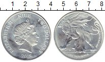 Изображение Монеты Новая Зеландия Ниуэ 2 доллара 2018 Серебро UNC-
