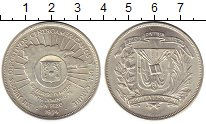 Изображение Монеты Северная Америка Доминиканская республика 1 песо 1974 Серебро UNC