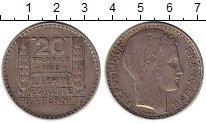 Изображение Монеты Европа Франция 20 франков 1933 Серебро XF-