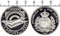 Изображение Монеты Европа Сан-Марино 10000 лир 1999 Серебро Proof-