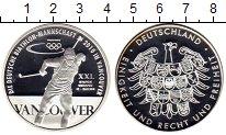 Изображение Монеты Германия Медаль 2010 Серебро Proof Олимпиада в Ванкувер