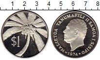 Изображение Монеты Австралия и Океания Самоа 1 доллар 1974 Серебро Proof-