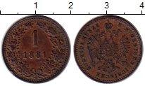 Изображение Монеты Европа Австрия 1 крейцер 1881 Медь XF