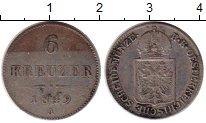 Изображение Монеты Европа Австрия 6 крейцеров 1849 Серебро XF-