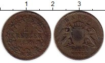 Изображение Монеты Баден 1/2 крейцера 1859 Медь VF