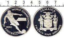 Изображение Монеты Северная Америка Ямайка 25 долларов 1990 Серебро Proof-