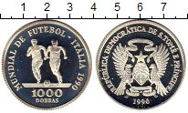 Изображение Монеты Африка Сан-Томе и Принсипи 1000 добрас 1990 Серебро Proof