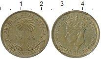 Изображение Монеты Западная Африка 1 шиллинг 1949 Латунь XF