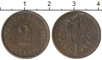 Изображение Монеты Европа Германия 2 пфеннига 1875 Бронза XF