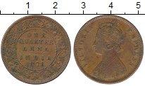 Изображение Монеты Индия 1/4 анны 1878 Медь XF