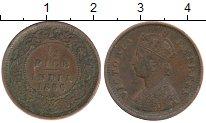 Изображение Монеты Индия 1/2 пайса 1886 Медь XF Виктория