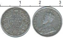 Изображение Монеты Азия Индия 2 анны 1915 Серебро XF-