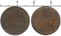 Изображение Монеты Азия Индия 1/12 анны 1876 Медь XF