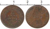 Изображение Монеты Индия 1/12 анны 1893 Медь XF
