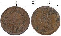 Изображение Монеты Азия Индия 1/12 анны 1862 Медь XF