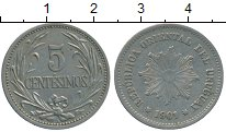 Изображение Монеты Южная Америка Уругвай 5 сентесим 1901 Медно-никель XF