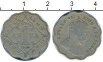 Изображение Монеты Азия Индия 1 анна 1909 Медно-никель VF