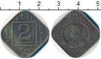 Изображение Монеты Индия 2 анны 1933 Медно-никель VF Георг V