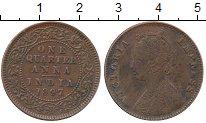 Изображение Монеты Индия 1/4 анны 1897 Медь VF Виктория