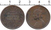 Изображение Монеты Индия 1/4 анны 1862 Медь VF Виктория