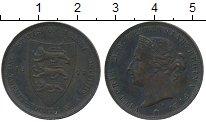 Изображение Монеты Великобритания Остров Джерси 1/24 шиллинга 1877 Бронза VF