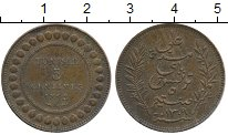 Изображение Монеты Африка Тунис 5 сантим 1892 Бронза XF