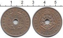 Изображение Монеты Великобритания Родезия 1 пенни 1938 Медно-никель XF